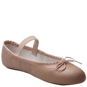 Johnny Brown Leather Ballet Slipper